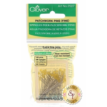 """Clover Patchwork Pins (Extra Fine) - 100ct Size 30 - 1½"""""""