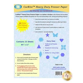 CutRite Heavy Duty Freezer Paper - Pack of 25 Sheets