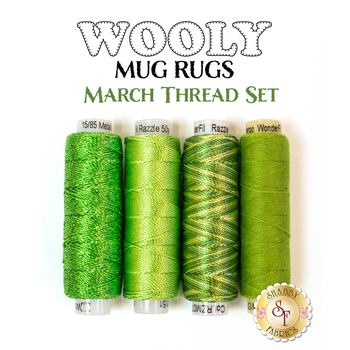 Wooly Mug Rug Series - March - 4 pc Thread Set