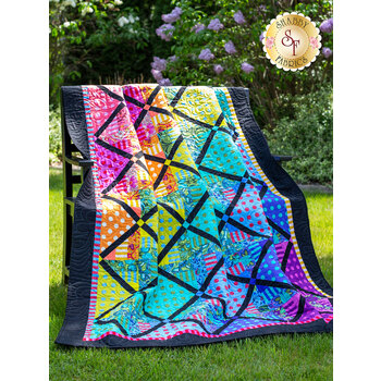 Spinning Rail Fence Quilt Kit - Tula Pink - 3 Projects
