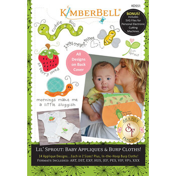 Lil' Sprout: Baby Appliques & Burp Cloths - Machine Embroidery CD