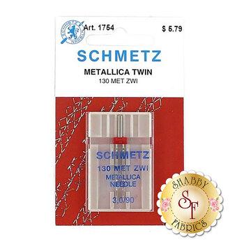 Schmetz Metallic Twin Machine Needle - Size 3.0/90