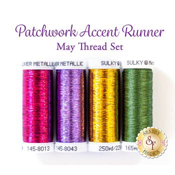 Patchwork Accent Runner - Pansies - May - 4 pc Thread Set