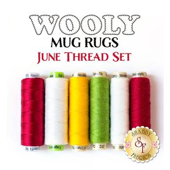 Wooly Mug Rug Series - June - 6 pc Thread Set