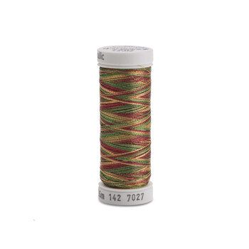 Sulky Original Metallic #7027 Cranberry/Gold/Pine Green 140 yd Thread