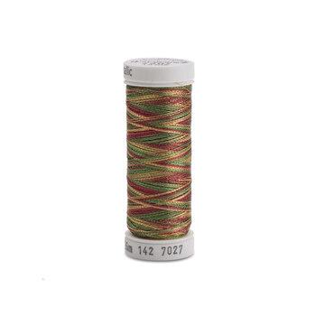 Sulky Original Metallic - #7027 Cranberry/Gold/Pine Green Thread - 140yds