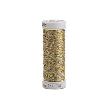 Sulky Original Metallic - #7020 Gold/Turquoise/Pink Thread - 110 yds
