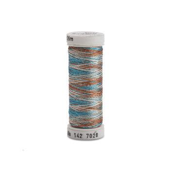 Sulky Original Metallic #7028 Silver/Lt.Copper/Electric Blue 140 yd Thread