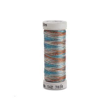 Sulky Original Metallic - #7028 Silver/Lt.Copper/Electric Blue Thread - 140yds