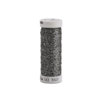 Sulky Original Metallic - #7023 Black/Silver Thread - 165yds