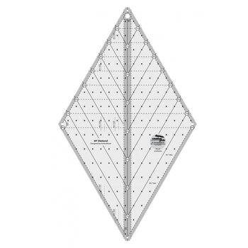 Creative Grids Non-Slip 60° Diamond Ruler # CGR60DIA