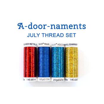 A-door-naments - July - 4pc Thread Set
