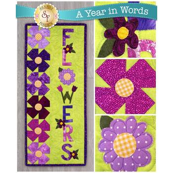 A Year In Words Wall Hangings - Flowers - May - Pattern