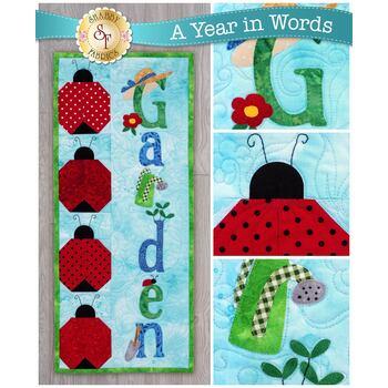 A Year In Words Wall Hangings - Garden - June - Pattern