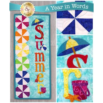A Year In Words Wall Hangings - Summer - July - Pattern