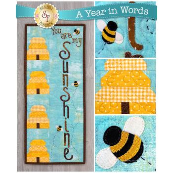A Year In Words Wall Hangings - Sunshine - August - Pattern