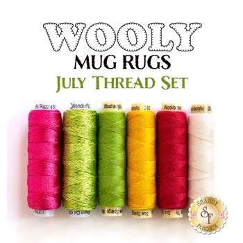Wooly Mug Rug Series - July - 6 pc Thread Set