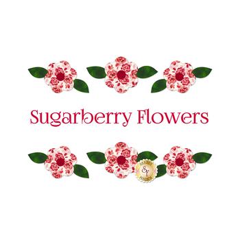 Laser Cut Sugarberry Flowers Set
