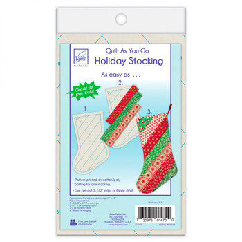 Quilt As You Go Pre-Printed Batting - Holiday Stocking - Stripes