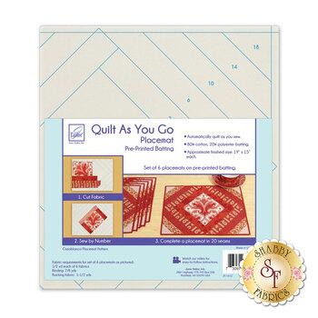Quilt As You Go Placemat Pre-Printed Batting - Casablanca