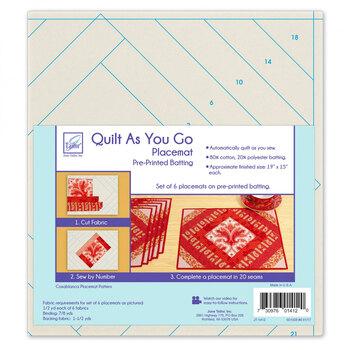 Quilt As You Go Pre-Printed Batting - Placemats - Casablanca - Makes 6