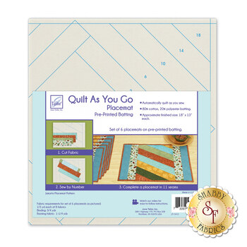 Quilt As You Go Placemat Pre-Printed Batting - Jakarta