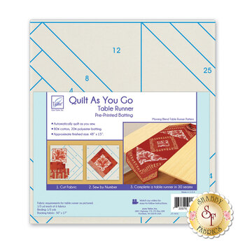 Quilt As You Go Table Runner Pre-Printed Batting - Morning Blend