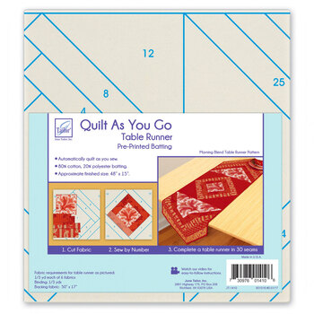 Quilt As You Go Pre-Printed Batting - Table Runner - Morning Blend