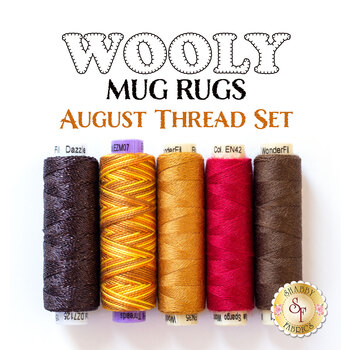 Wooly Mug Rug Series - August - 5 pc Thread Set