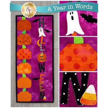 A Year In Words Wall Hangings - Halloween - October - Pattern