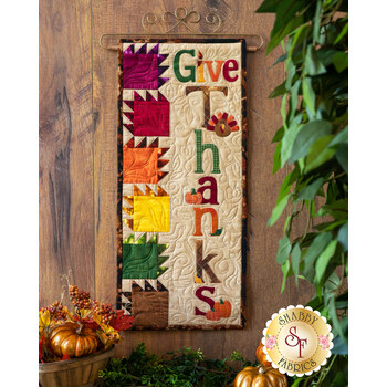 A Year In Words Wall Hangings - Give Thanks - November - Kit