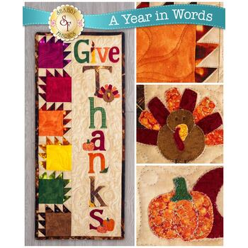 A Year In Words Wall Hangings - Give Thanks - November - Pattern