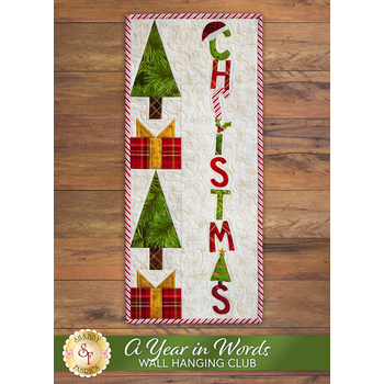 A Year In Words Wall Hangings - Christmas - December - Kit