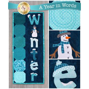 A Year In Words Wall Hangings - Winter - January - Pattern