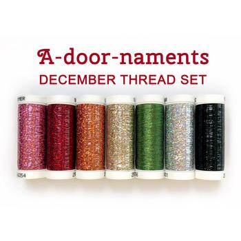 A-door-naments - December - 7pc Thread Set