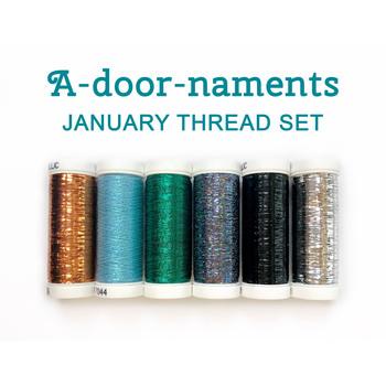 A-door-naments - January - 6pc Thread Set