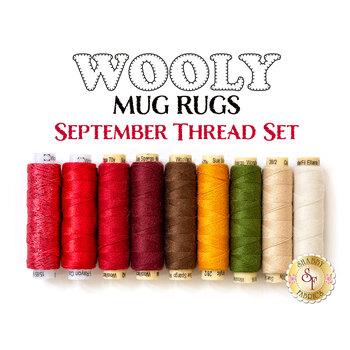 Wooly Mug Rug Series - September - 9 pc Thread Set