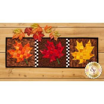 Patchwork Accent Runner - Leaves - November - Pattern