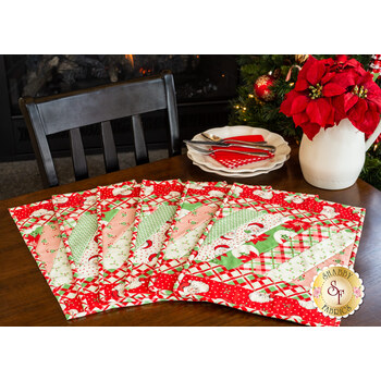 Quilt-As-You-Go Jakarta Placemats - Swell Christmas