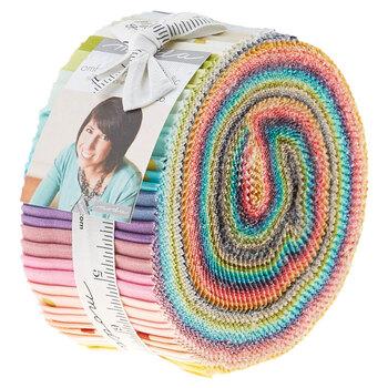 Ombre Confetti Metallic  Jelly Roll by Moda Fabrics