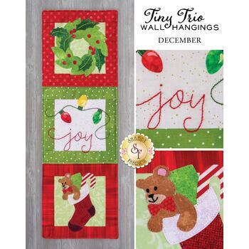 Tiny Trio Wall Hangings - Joy - December - Pattern