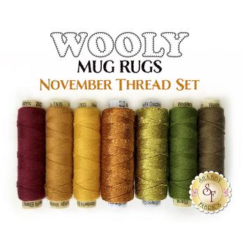 Wooly Mug Rug Series - November - 7 pc Thread Set