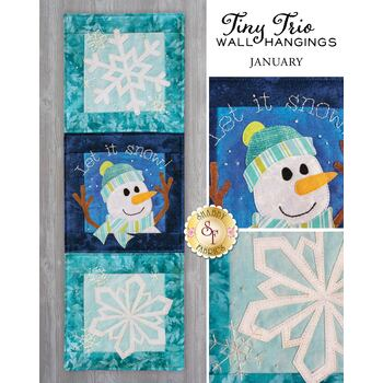Tiny Trio Wall Hangings - Let It Snow - January - Pattern
