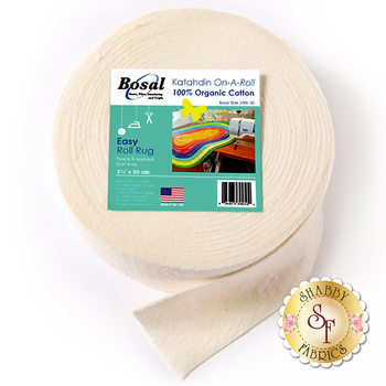 "Bosal Katahdin 100% 2.25"" Cotton Batting Strips - 50yds - For Jelly Roll Rugs"