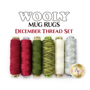 Wooly Mug Rug Series - December - 6 pc Thread Set