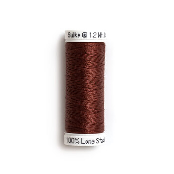 Sulky 12 wt Cotton Petites Thread #1058 Tawny Brown - 50 yds
