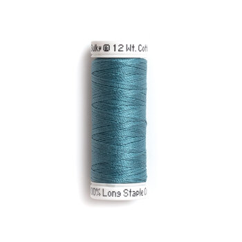 Sulky 12 wt Cotton Petites Thread #1252 Bright Peacock - 50 yds