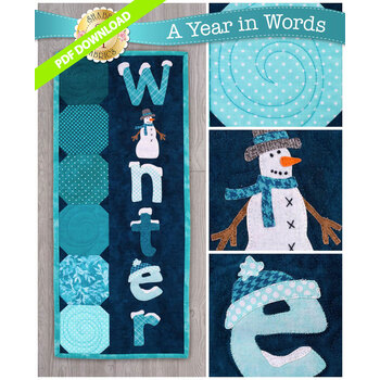 A Year In Words Wall Hangings - Winter - January - PDF Download