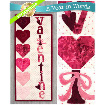 A Year In Words Wall Hangings - Valentine - February - PDF Download