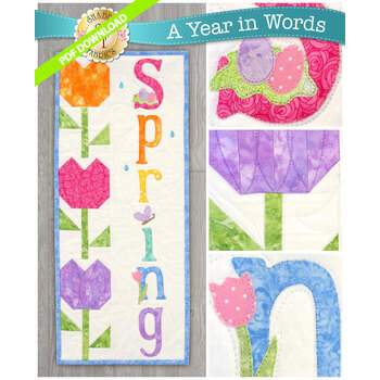A Year In Words Wall Hangings - Spring - April - PDF Download
